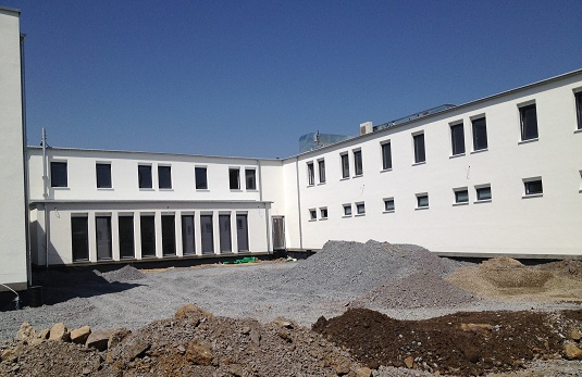Neubau Dienstgebäude Bundespolizei Selb Innenhof