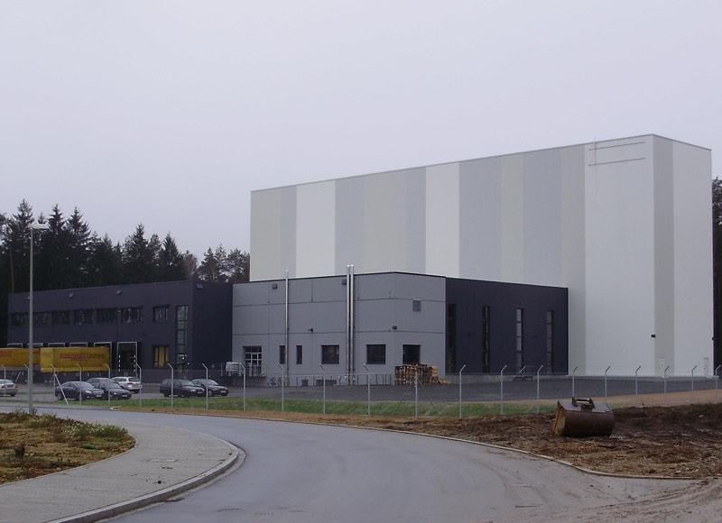 Illbruck Bodenwöhr Neubau Produktionshalle Außenansicht