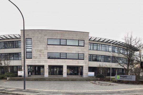Außenansicht Bürogebäude Firmensitz Projekt-HLS