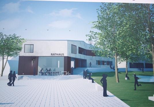 Rathaus Weiherhammer Neubau Simulationsansicht