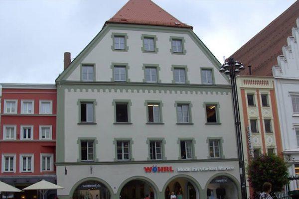 Wöhrl Kaufhaus Straubing Ansicht Außenfassade