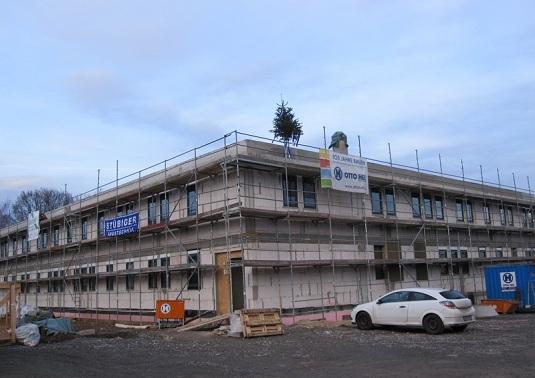 Neubau Gebäude Bundespolizei Selb Richtfest