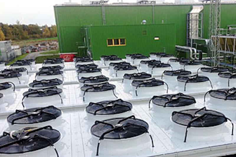 HelWin 1 Konverterplattform Lüftungsanlage Ansicht Dach