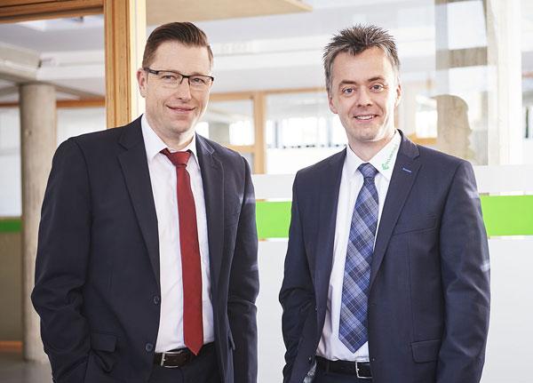 Geschäftsführer Jürgen Brunner und Jörg Retzer