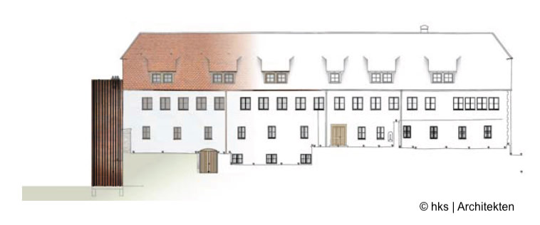 Ansicht Umbau Klosterburg Kastl