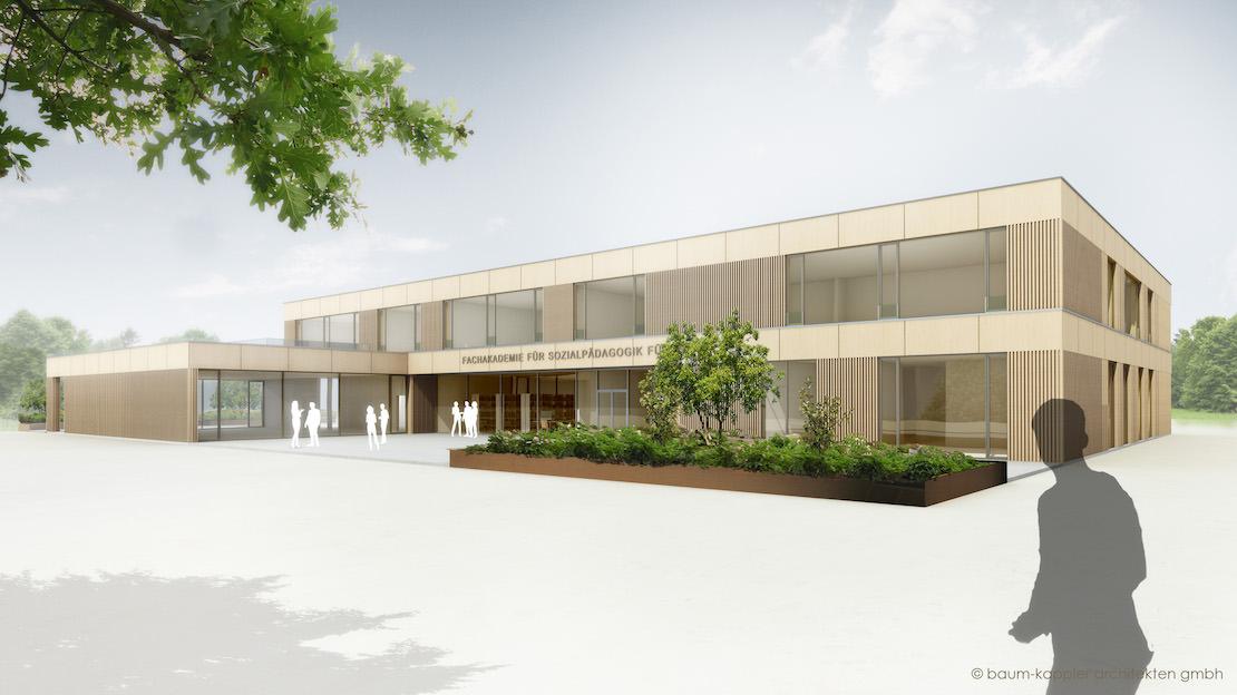 Ansicht Neubau Fachakademie für Sozialpädagogik Fürth