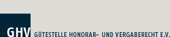 Logo der Gütestelle Honorar- und Vergaberecht e.V.