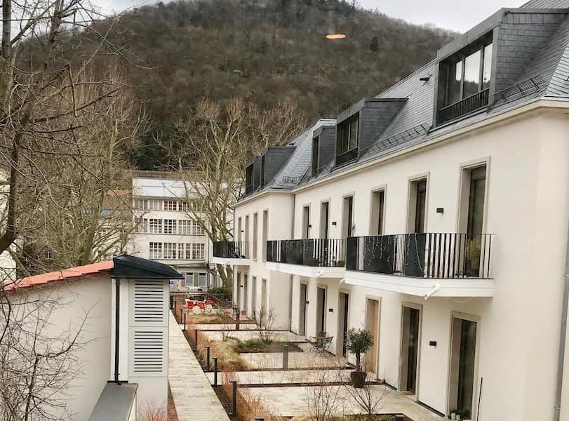 Außenansicht Rückseite Wormser Hof Heidelberg