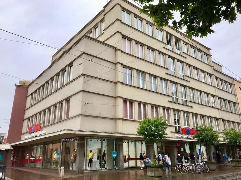 Ansicht Geschäfthaus Moritzplatz Augsburg