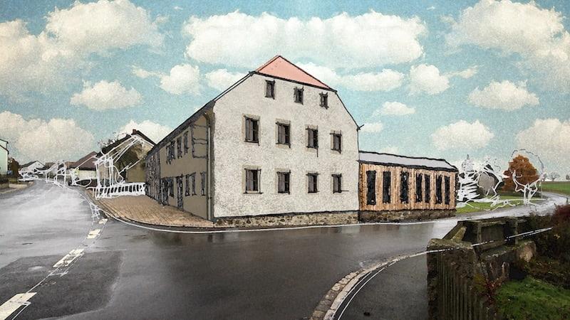 Ansicht Gasthaus Bauer Reuth Premenreuth b. Erbendorf vor der Revitalisierung