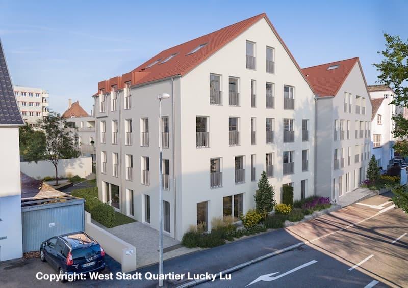 Ansicht West Stadt Quartier Ludwigsburg Wohnhaus
